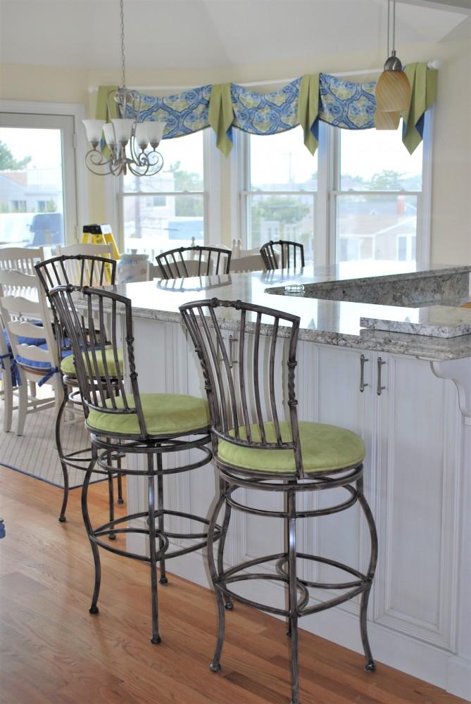 Blue & Green Beach Kitchen Design