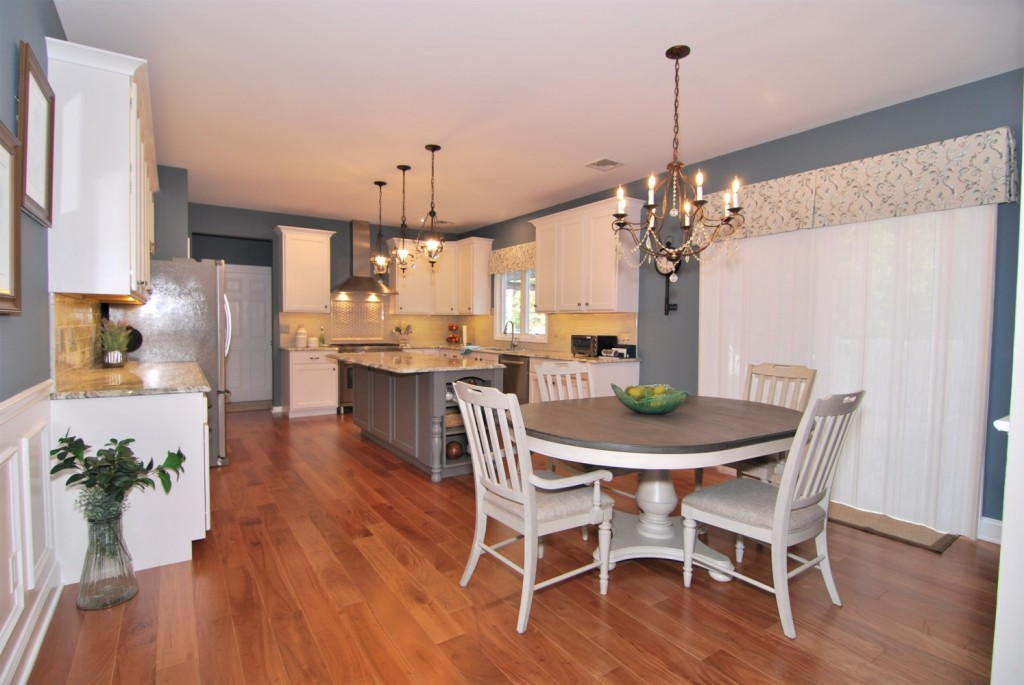 Refaced White and Gray Kitchen | Monroe