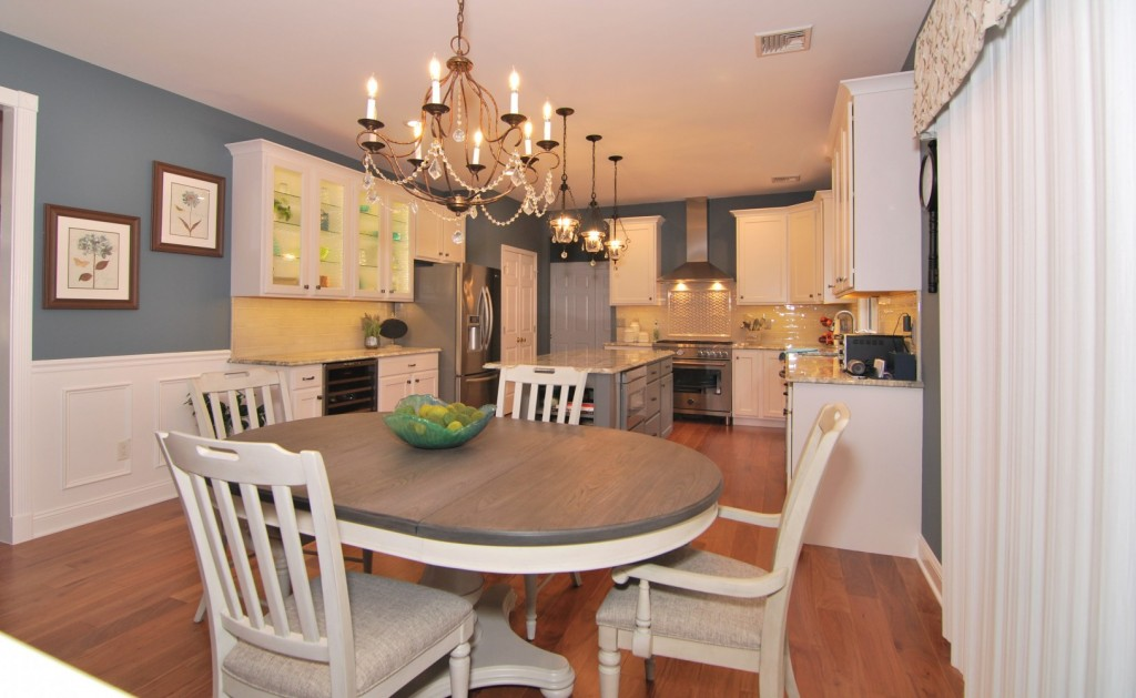 Refaced white grey Kitchen Magic
