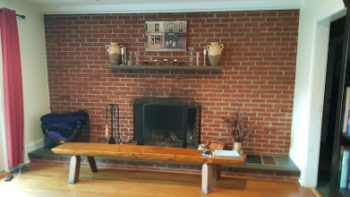 Den brick fireplace to be redone