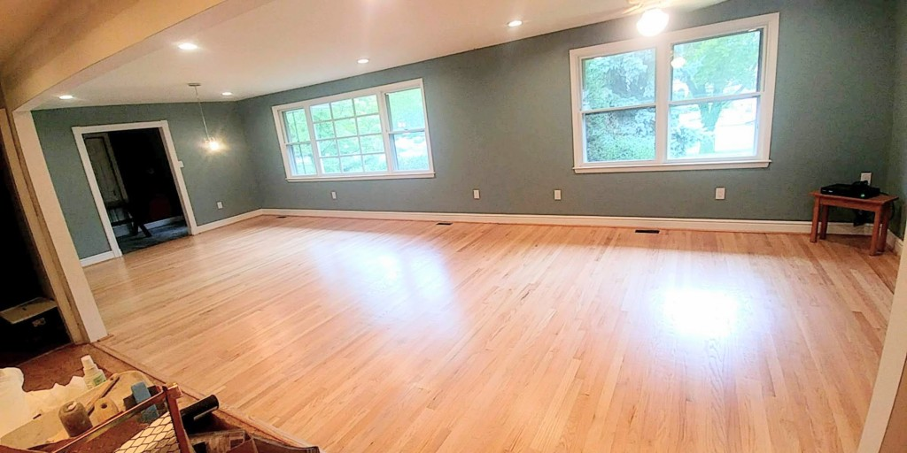Open space before furniture