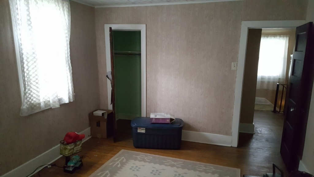 1920s collingswood Master closet where new bathroom was created