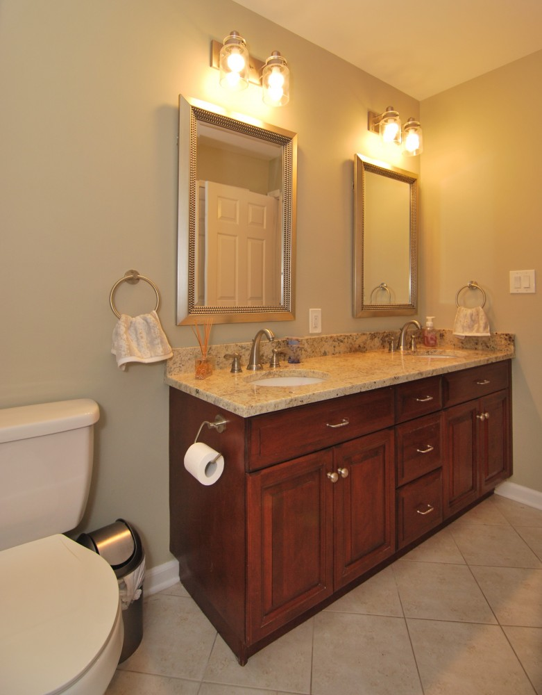 Hall bath double vanity refresh