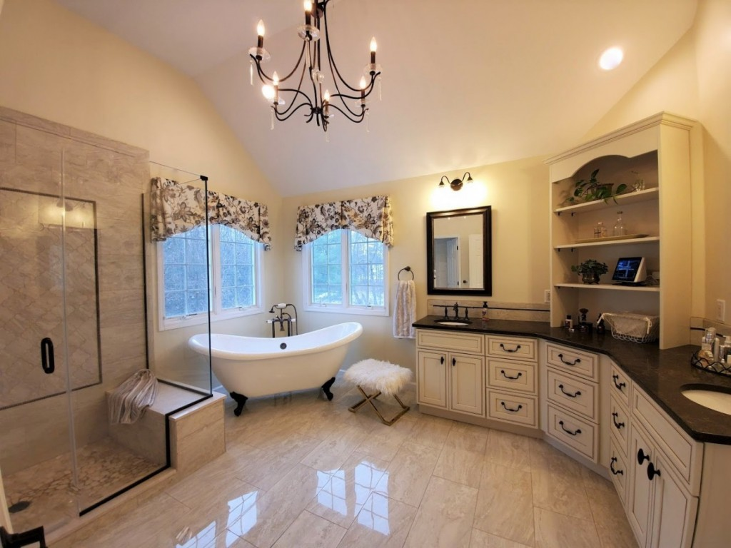 Master bath completely redone