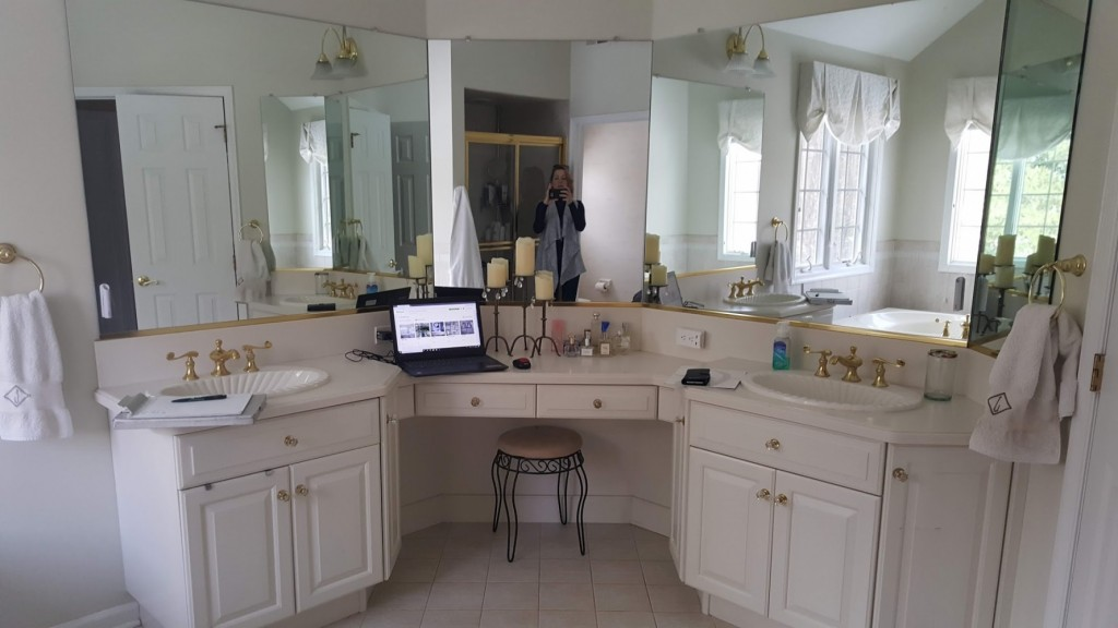 Master double vanity before