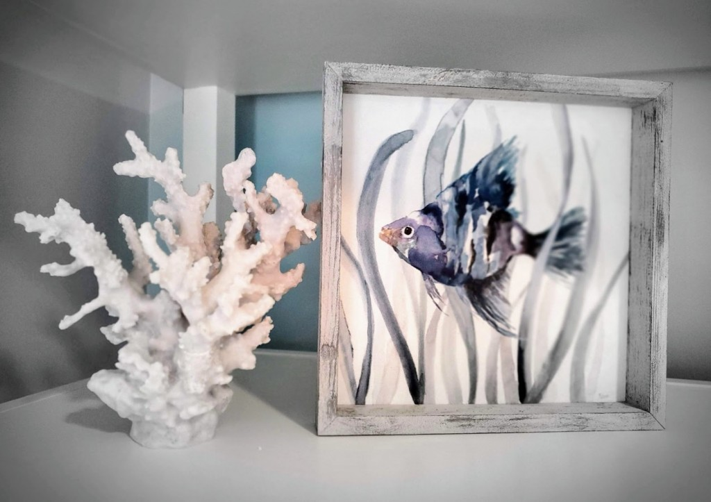 Coral and fish art