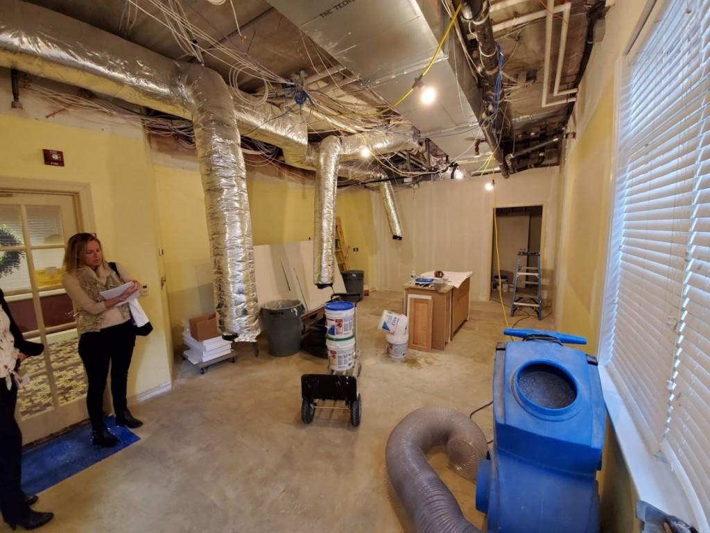 Craft room during renovation