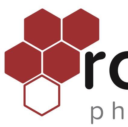 Example red, black, grey logo