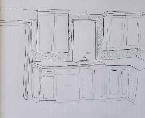Fireplace sketch