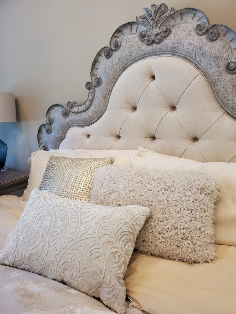 Headboard with accents