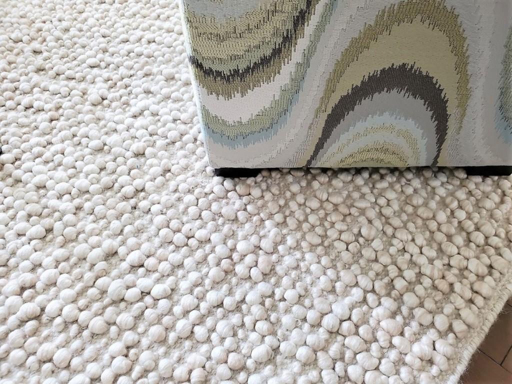 ottoman and rug