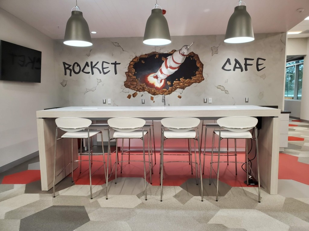 Rocket Cafe Mural and Furniture