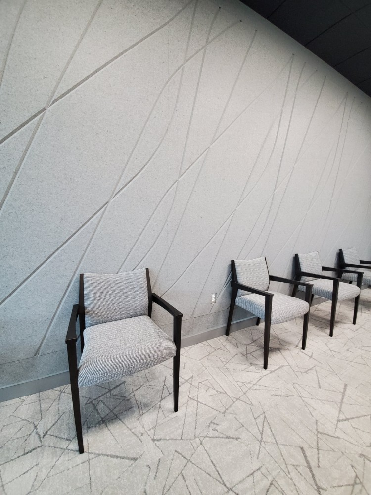 Board Room Accent Chairs with Scribe Acoustic Wall Art