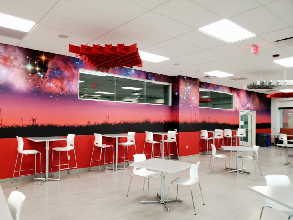 Rocket Cafeteria Furniture and Mural
