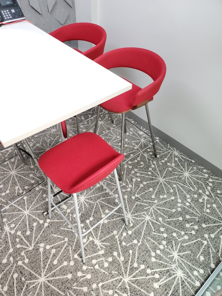 Huddle Room Furniture and Cosmos rug