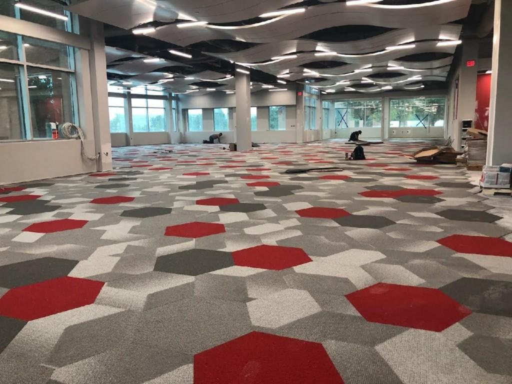 Rocket's Open Space Flooring & Ceiling