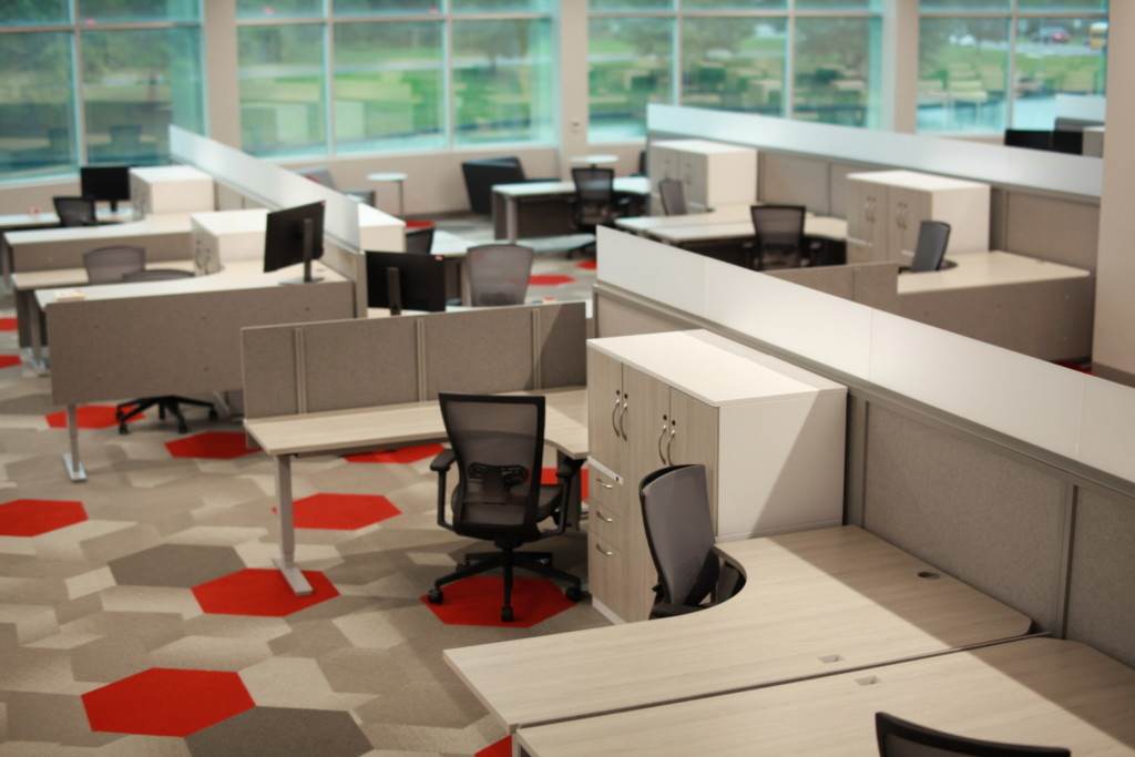 Open space desking and storage