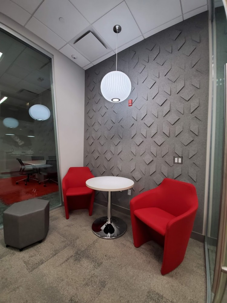 Pivate Huddle Room With Tub Chair