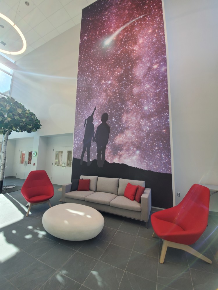 Rocket Lobby Seating and Art