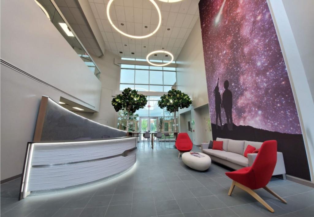 Rocket Lobby before Rug   Distinctive Interior Designs   Cranbury NJ