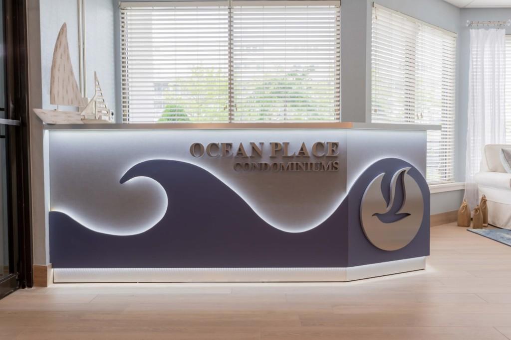Ocean Place lobby desk