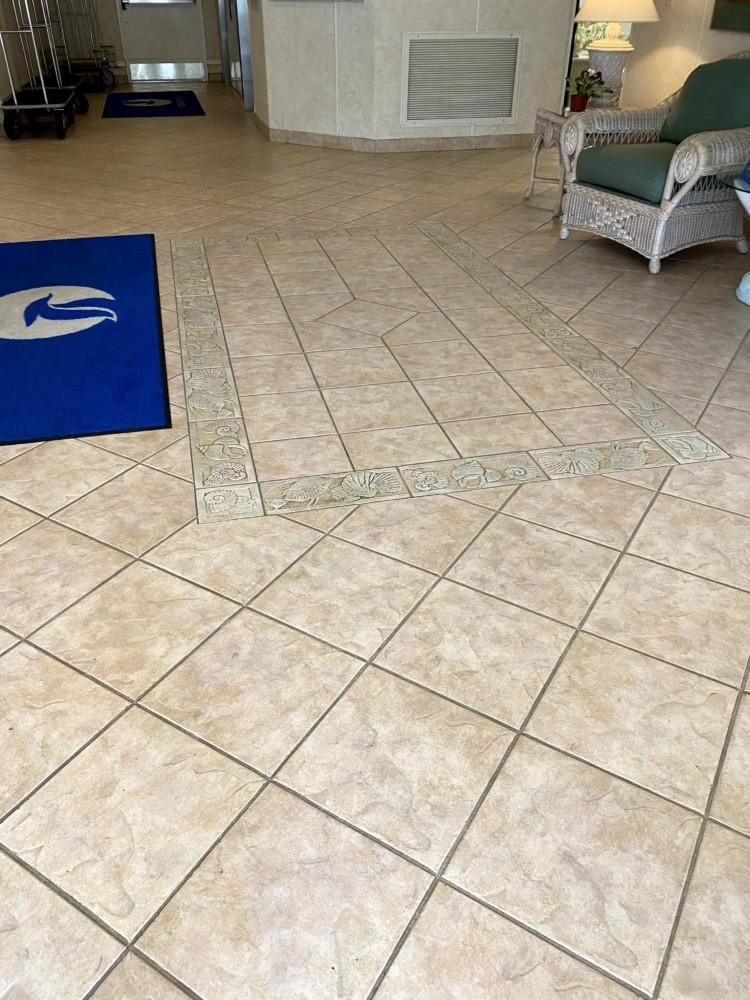 Old lobby tile floors