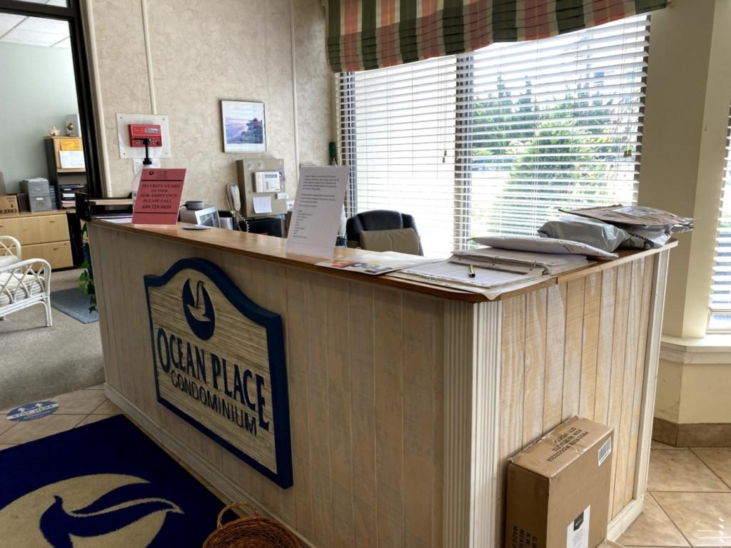 Prior lobby desk at ocean place condominiums